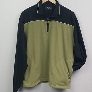 Callaway Fleece Pullover Golf Jacket Mens Medium